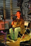 Chris Cyprus performing in Woodend Mill Mossley