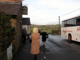 Coming out of The Roebuck Inn after The AEU christmas dinner