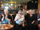Girls at the Working mens club in Blackpool