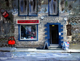 Shop in Uppermill then merged into a a painting