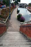 Steps leading down to the Canal