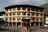 main traffic circle-downtown Thimpu