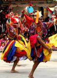 Bhutan-festival dancers