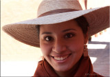 Our beautiful  guide in   Cusco at the  convent.jpg