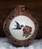Hummingbird on Pueblo Pottery