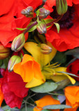 Red, Yellow Market Flowers