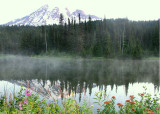 42 mist on the mountain lake