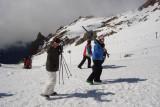 Helô fazendo aula de ski