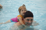 Mais uma aula de natação