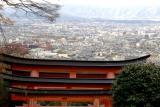 View of Kyoto from Mt Inari
