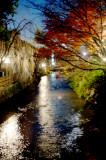 Stream running through old Kyoto
