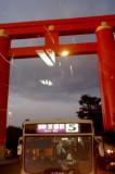 Torii through the rear window