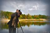 The photographer enjoying the last fine days of this season