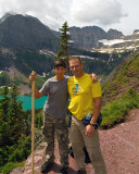 Rick and Danny on the Grinnell Glacier Trail by Grinnell Lake.jpg