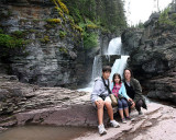 Beth and the Kids at St Mary Falls.jpg