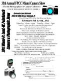 Miami Camera Show 2011 flyer