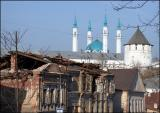 View of Kazan Kremlin and Kul Sharif mosque