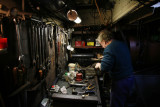 Cees in his engine room