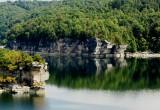 Sandstone Cliffs on Lake Summersville