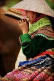 Girl at Bac Ha Market in Vietnam