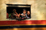 Passing train at Insein