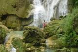 Swimming in Koangsi Falls