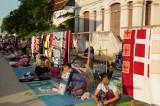 Preparing for Night Market in Luang Prabang