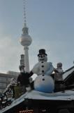 Snowman at Alexanderplatz