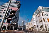 new and old buildings at Alenby and Hayarkon junction, Tel Aviv, Israel