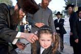 first hair cut during the lag b'omer celebrations at the mount M
