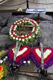 wreaths from senator Hillary and Bill Clinton on Yitzhak Rabin memorial