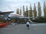 Convair 990 on a cloudy day