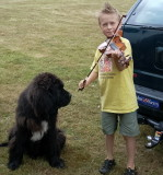 Riley's camp do and Sophie, the resident Newfoundland.
