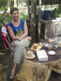 Me at La Casita cafe and park just outside Estelí