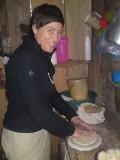 Making tortillas, Miraflor homestay