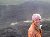 Boarding down Cerro Negro (active) vulcano