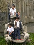 School boys playing
