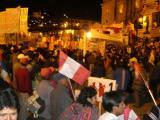 Election fever: popular candidate Ollanta speaking in Cusco