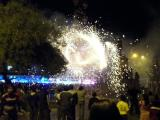 Fireworks before another Semana Santa procession, Ayacucho