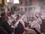 Semana Santa procession from San Francisco cathedral, Lima, Peru