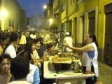 Bustling food stalls during Semana Santa