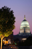 The Capitol at dusk, Madison