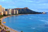 Waikiki Beach with Diamond Head, Oahu, Hawaii, USA