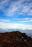 Early morning, the sky turns a beautiful blue, Haleakala National Park, Maui, Hawaii, USA