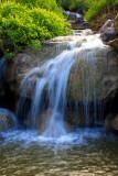 Waterfall in soft light, Chicago Botanical Garden