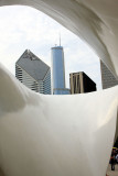 Different views of the city through the Burnham Pavilion, Chicago