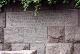 Roosevelt Memorial - I hate war, Washington D.C.