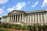 The U.S. Treasury building designed by Ammi Burnham Young, Washington D.C.