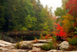 Fall Colors, New Hampshire - Kancamagus Highway - Lower falls, White Mountains, NH