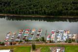 Portland, Oregon - Marine Drive pier on Columbia River